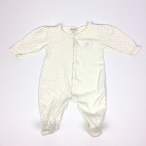 Kissy Kissy Cream & Pink Elephant Footie 3-6 Month